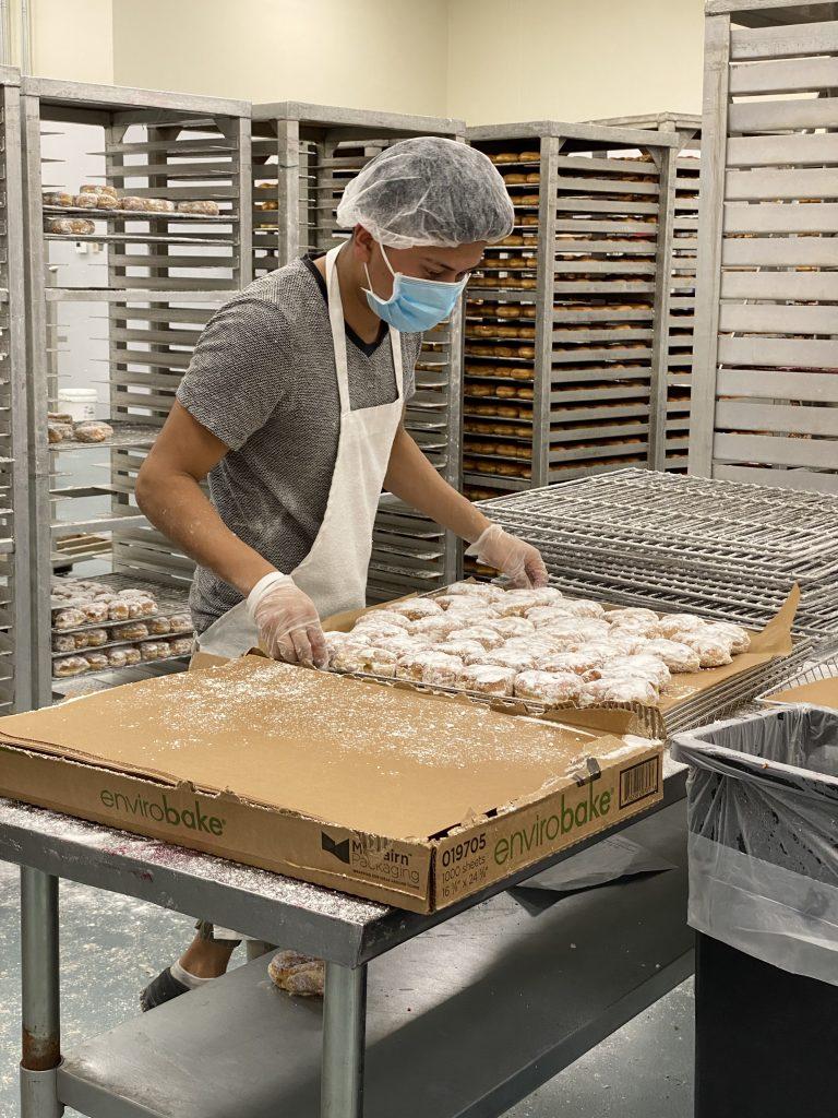 picking donut orders